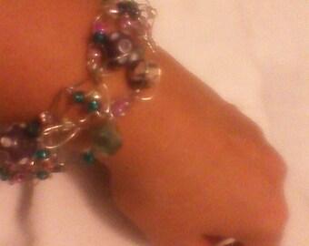 Teal, Lavender Blush Bracelet
