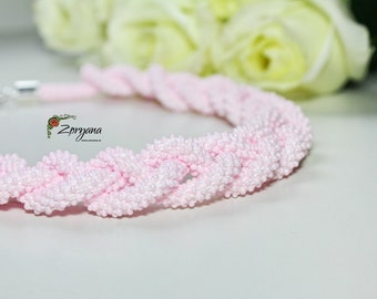 Pink Necklace Pastel Wedding Jewelry Bridesmaids Beaded Gift