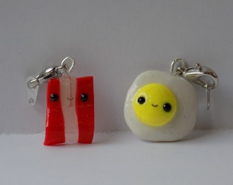Eggs and Bacon Friendship Charms