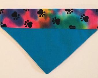Bandana Dog S Multi Color Blue Back 2 in 1 design New
