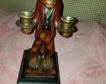 Vintage Monkey Butler Candleholder