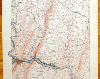 Antique Antietam Battlefield Maryland 1910 Us Geological Survey Topographic Map Harpers Ferry