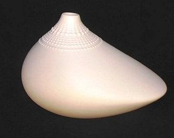 vintage 60s Rosenthal bisque unglazed white porcelain vase POLLO Tapio Wirkkala
