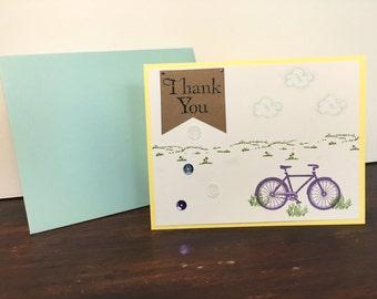 Bicycle thank you 6-card set