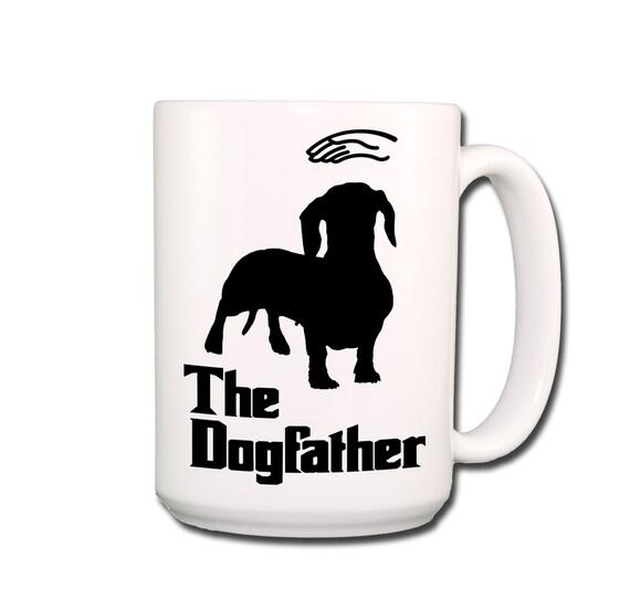 Dachshund Dogfather Large 15 oz Coffee Mug