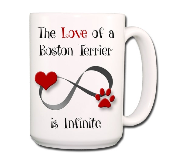 Boston Terrier Infinite Love Large 15 oz Coffee Mug