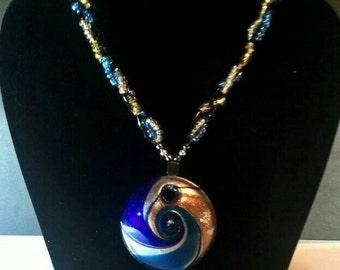 Hypnotic Glass Braided Necklace