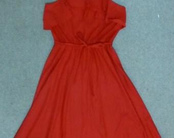 Vintage red 1970s disco dress