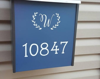 Monogrammed Mailbox decal
