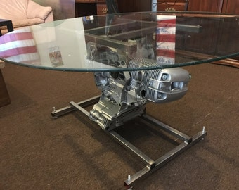 SOLD - BMW engine coffee table.  More Available