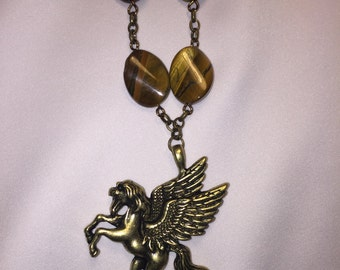 Tiger eye Stone the flaying horse