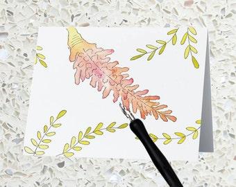 Blank Notecard - Tropical Ginger