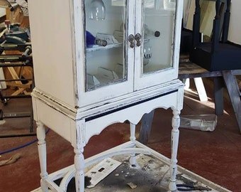 Wine Cabinet, Reclaimed Old Display Cabinet
