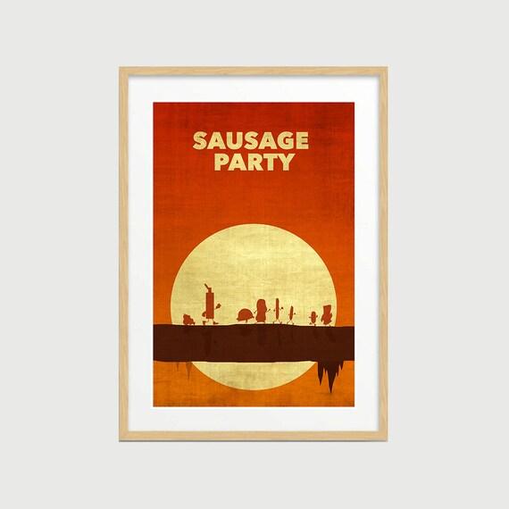Sausage Party Poster Sausage Party Minimalist Poster Sausage