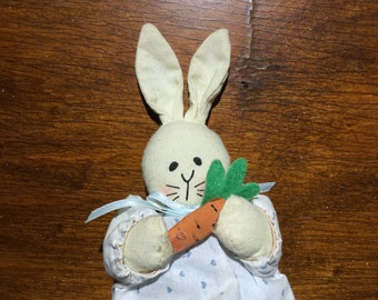 Handmade bunny with carrot magnet