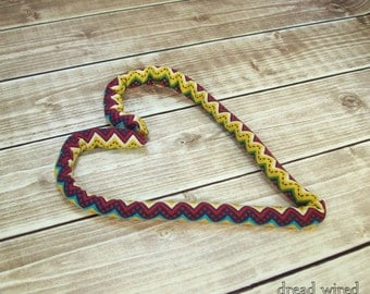 dreads hair tie, flexible fabric hair tie, 18 in., bendable dreads ponytail holder, wrap, twist, dreadlocks, colorful chevron, dread wired