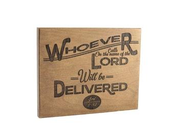 Bible Verse Art on Wood/ Christian Gift/ Scripture Art/ Christian Sign/ Encouragement/ Joel 2