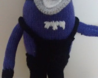 Hand made knitted toy Minion
