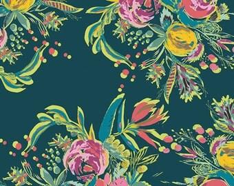 Coquet Bouquet print by Bari J.- cotton voile fabric- 1/2 yard