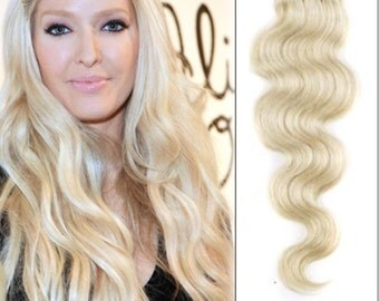 Shade 60 clip in human hair extensions