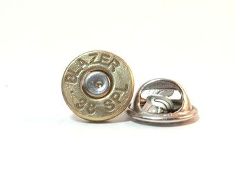 Bullet Jewelry- 38 Special Brass Bullet Tie Tack/Lapel Pin