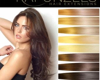 "20"" Pre bonded U Nail tip hair extensions, human remy hair 25 strands 1 gram - Choose colour"
