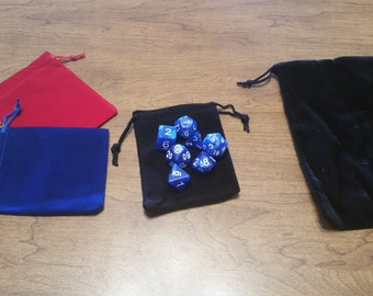 Marbled Polyhedral Dice Set with Bag