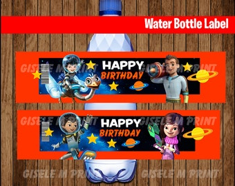 Miles from Tomorrowland Water Bottle Label, Printable Miles from Tomorrowland party Water, Miles from Tomorrowland party instant download