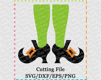 Witch Legs Cutting File SVG, EPS, DXF, and png for cutting machines Silhouette Cameo Cricut Scan n Cut