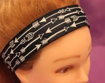 Navy Blue with White Arrows Non-slip Headband