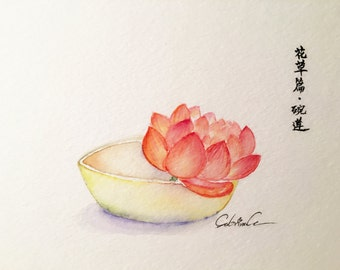 waterlily in a bowl