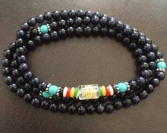 Wrapped Gemstone Bracelet