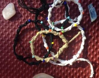 Beaded Chakra Hemp Bracelet