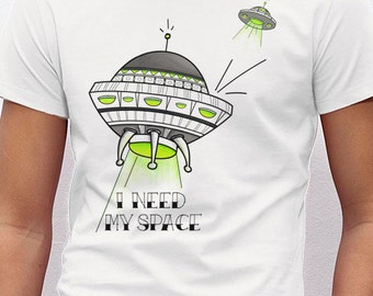 UFO. Organic t-shirt. Organic cotton.