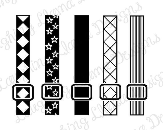 Set 2 Of Set Of 5 Suspenders Svg File