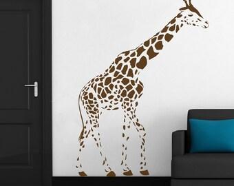 Giraffe Wall Art Decal Mural Sticker