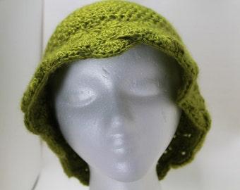 Beautiful Green Brimmed Hat