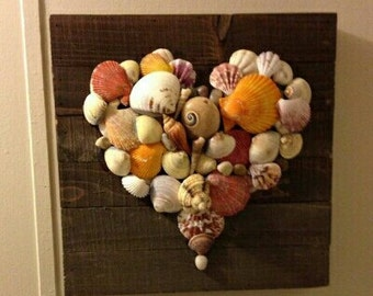 Seashell Heart Wall Hanging