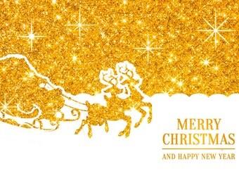 Postcard Christmas deers