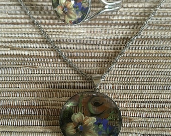 Handpainted Necklace and Bracelet