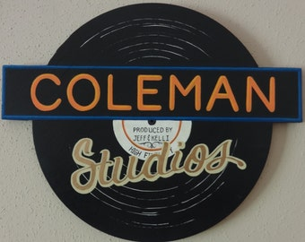 Media Room Sign, Wood Sign, Hand painted, Custom Sign