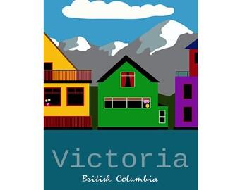 Victoria, British Columbia Poster (Fisherman's Wharf)