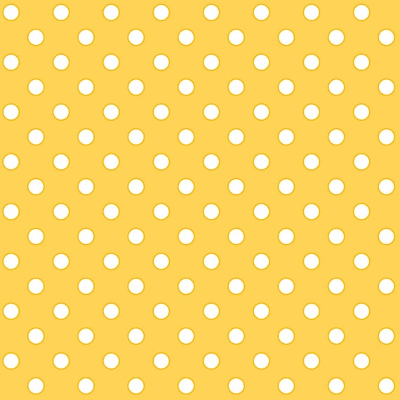 Yellow Polka Dots - Quilt Camp Collection