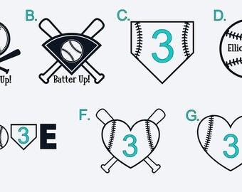 Personalized Baseball/Softball Decal or Iron On