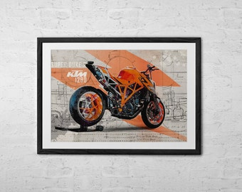 Ktm etsy for Decoration ktm