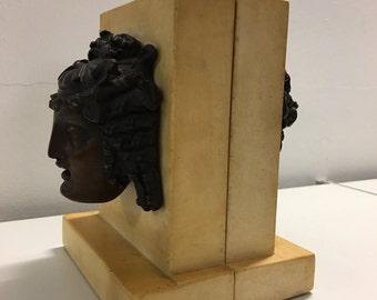 Bronze Head Bookends