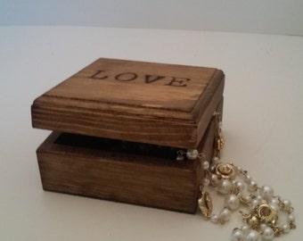 Love box custom wood burned