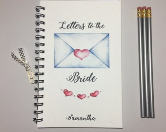 Letter to the Bride, To the Bride, Bride Advice Book, Personalized, Wedding Day Gift, Gift to Bride Journal