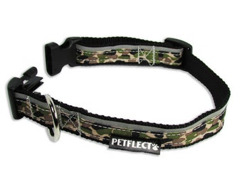 Camo Reflective Dog Collar