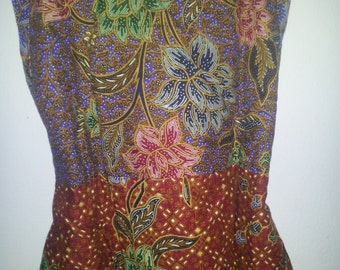 Batik Girl dress size 4 - 9 years old, batik cotton dress
